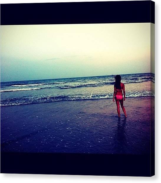 Bikini Canvas Print - #girl #ocean #vacation #florida #beach by Brittany B