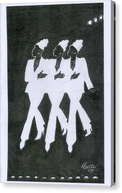 Girl Trio Canvas Print by Rhetta Hughes