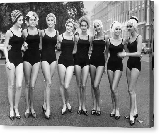 Girls Out Of Water Canvas Print by Archive Photos