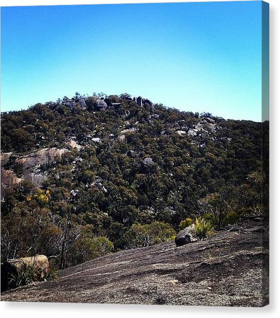 Rocky Mountains Canvas Print - #girraweennationalpark #seeaustralia by Tony Keim