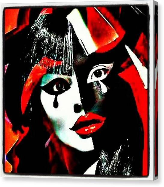 Asian Canvas Print - Giving Great Face! #gang_family by Mary Carter