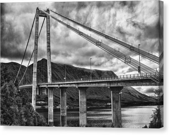 Gjemnessund Bridge Canvas Print