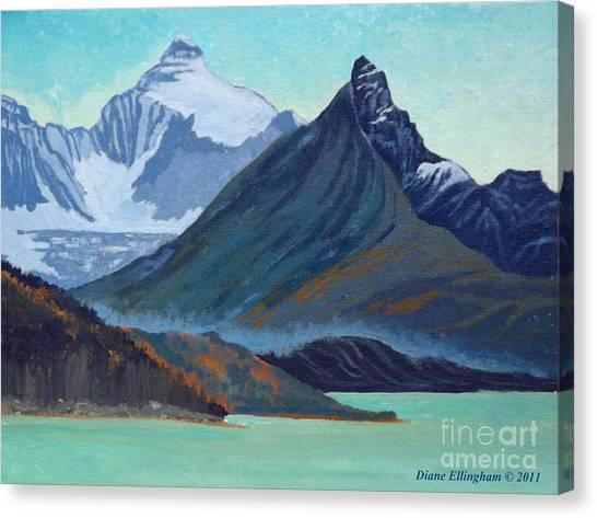 Glacial Retreat Canadian Rockies Canvas Print