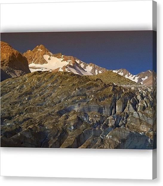 Glaciers Canvas Print - Glaciar Universidad. Retracing The by Chris Bechard