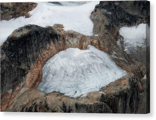 Glacier And Rock Canvas Print