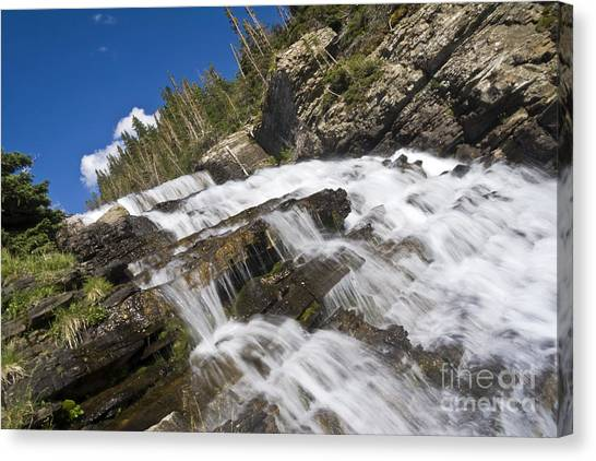 Glacier Falls Canvas Print by Scotts Scapes