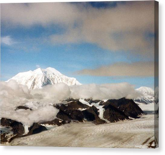 Glacier In The Clouds Canvas Print