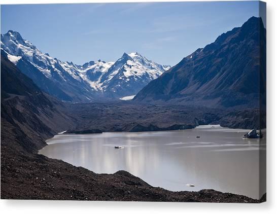 Glacier Lake Canvas Print by Graeme Knox