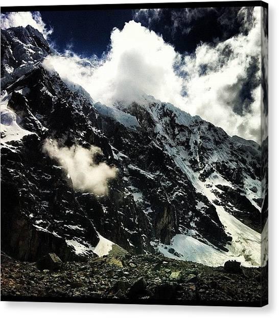 Glaciers Canvas Print - Glaciers On The Salkantay, Salkantay by Arnab Mukherjee