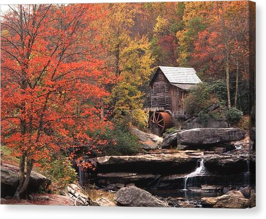 Glade Creek Grist Mill    Horizontal Canvas Print