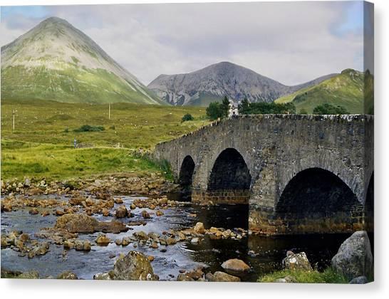 Glamaig And Sligachan Bridge Canvas Print