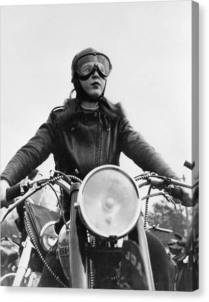 Glamorous Biker Canvas Print by Keystone Features
