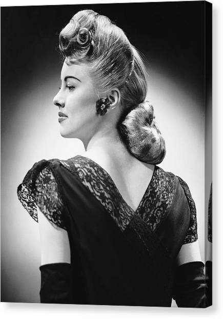 Glamorous Woman Posing Canvas Print by George Marks