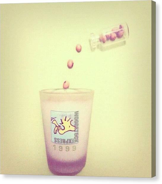 Milk Canvas Print - #glass #milk #soya #instadrink by Ivan Braginski