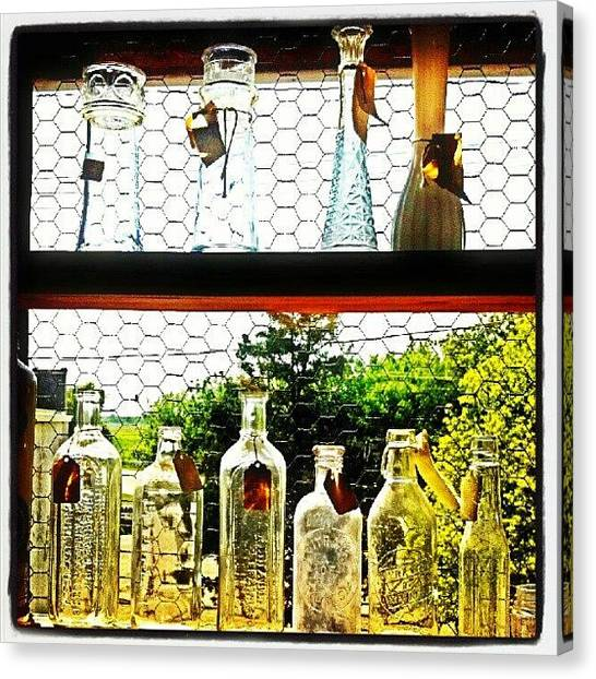 Barns Canvas Print - #glass #window #farm #vintage #sunshine by Bryan P