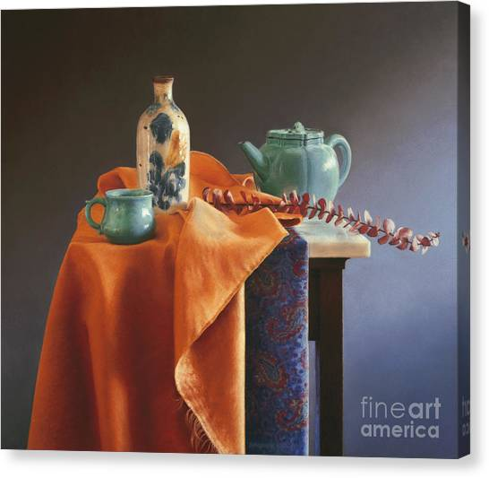 Ceramic Glazes Canvas Print - Glazed With Light by Barbara Groff