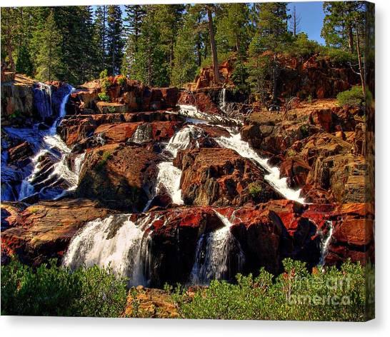 Fallen Leaf Canvas Print - Glen Alpine Falls by Scott McGuire