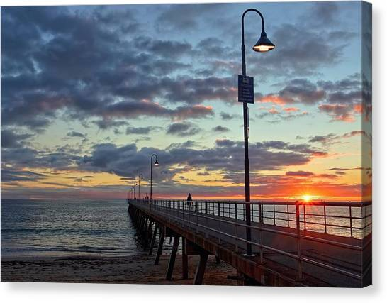 Glenelg Sunset Canvas Print