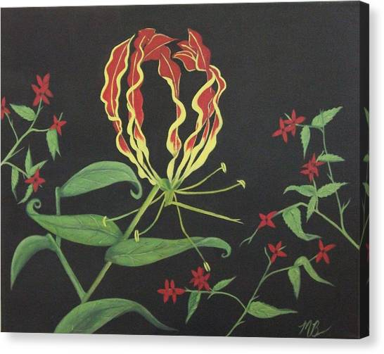 Gloriosa Canvas Print by Melanie Blankenship