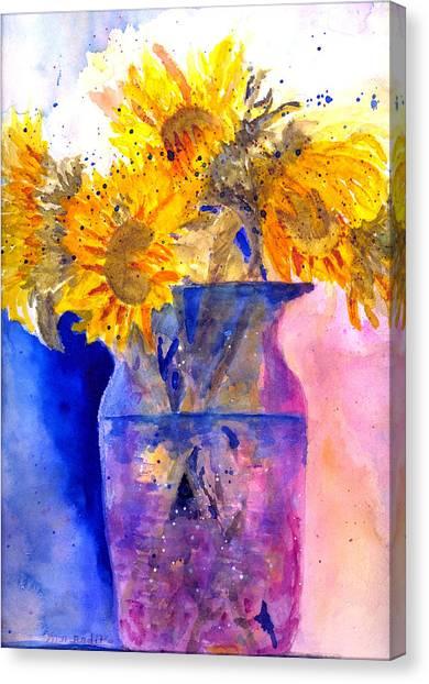 Glorious Sunflowers Canvas Print