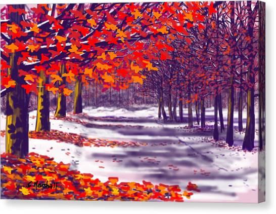 Glory Of Autumn Canvas Print
