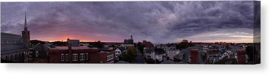 Gloucester Sunrise Panorama Canvas Print by Matthew Green