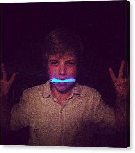 Hunting Canvas Print - Glow Sticks Lol @jonah_is_to_awesome by Hunter Graves