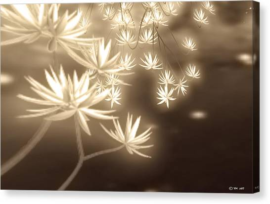 Glowing Flower Fractals Canvas Print