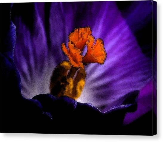 Glowing Purple Canvas Print