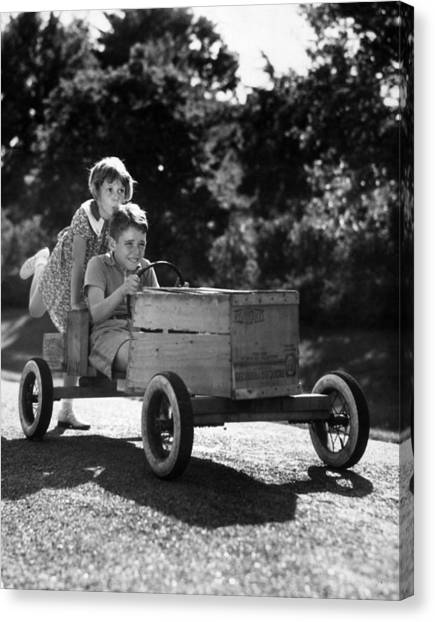 Go-carting Canvas Print by Archive Photos
