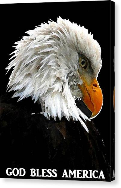 God Bless America Canvas Print by Carrie OBrien Sibley