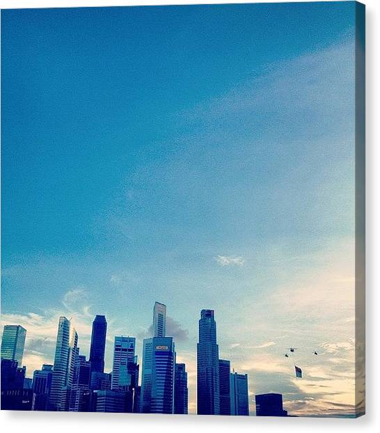Helicopters Canvas Print - God Bless Singapore. #singapore #sgig by Gabriel Kang
