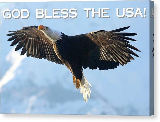 God Bless The Usa 2 Canvas Print by Carrie OBrien Sibley