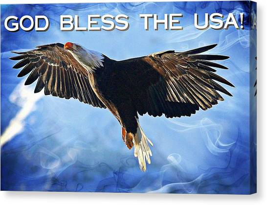 God Bless The Usa Canvas Print by Carrie OBrien Sibley