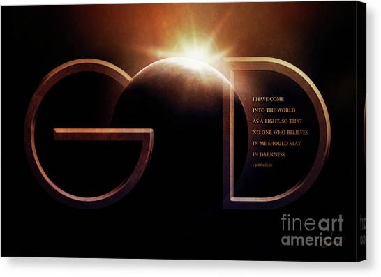Messiah Canvas Print - God Is Light by Shevon Johnson