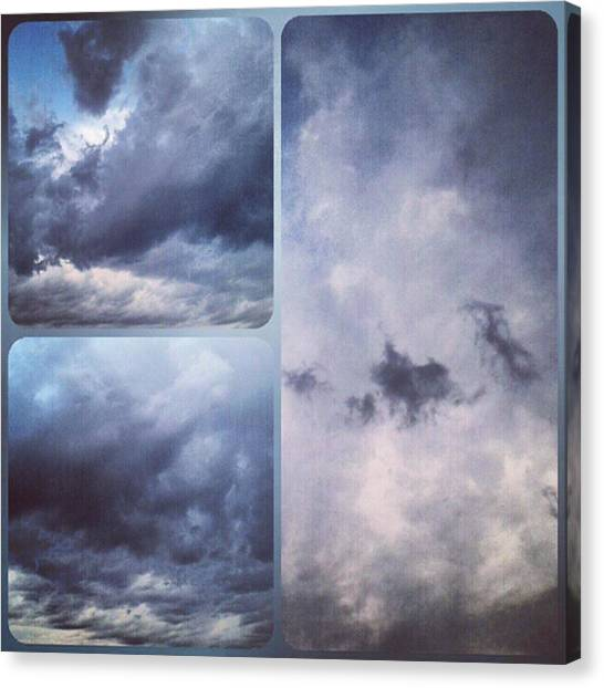 Sky Canvas Print - God Is The Ultimate Painter... #nature by Kel Hill