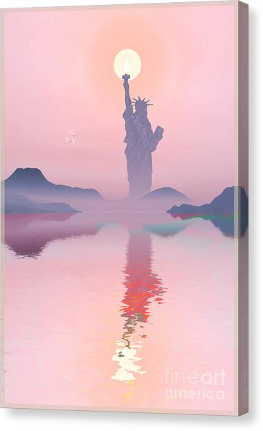 God Morning Canvas Print by Harald Dastis