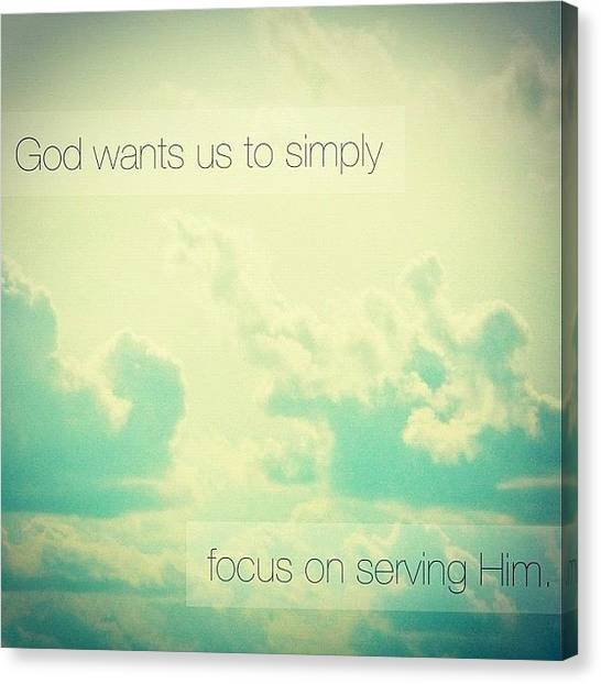 Hearts Canvas Print - god Wants Us To Simply Focus On by Traci Beeson