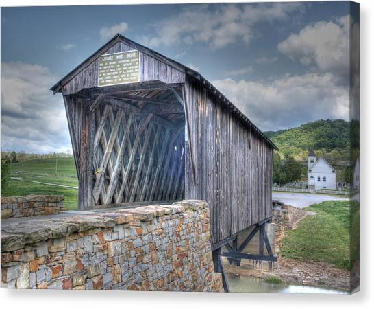 Goddard Covered Bridge Canvas Print