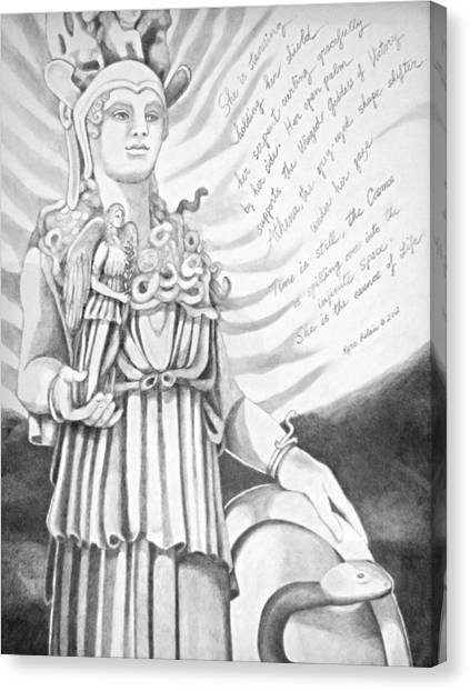 Goddess Athena Canvas Print