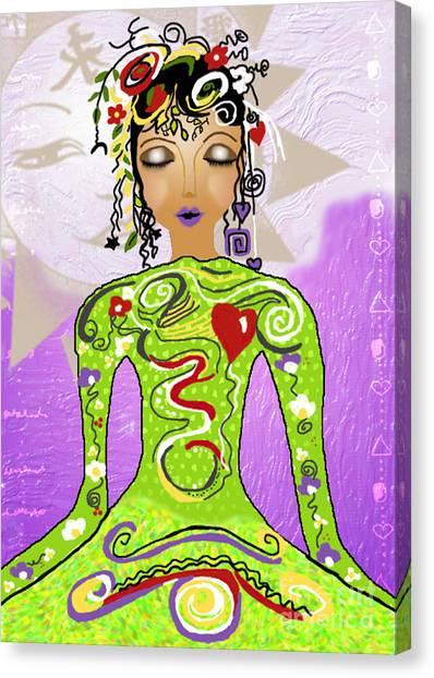 Goddess Of Yoga Canvas Print by Gia Simone