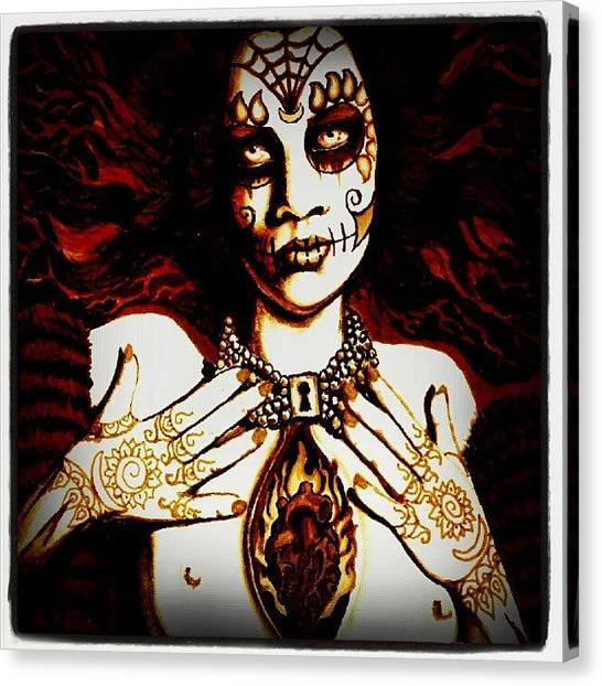 Skulls Canvas Print - Goddess by Shayne  Bohner