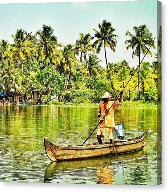 Ponds Canvas Print - God's Own Country Landscape by Rishi Sood