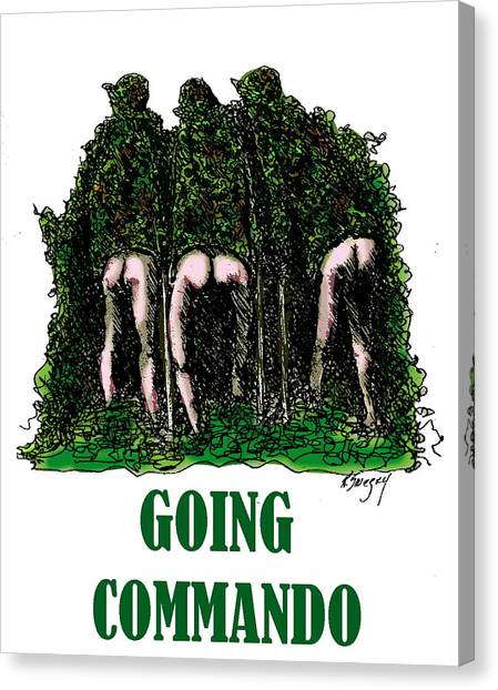 Going Commando Canvas Print