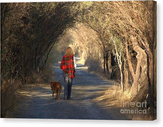 Going For A Walk  The Photograph Canvas Print