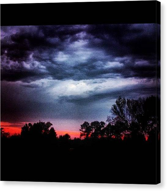 Arkansas Canvas Print - going, Going... #sunset #clouds by Roger Snook