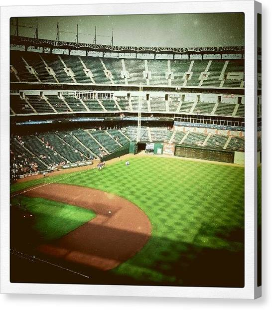 Texas Rangers Canvas Print - Going Here Monday, Can't Wait by Hollyan Trainer