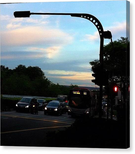 Traffic Canvas Print - Going Home by Claire Raphaela