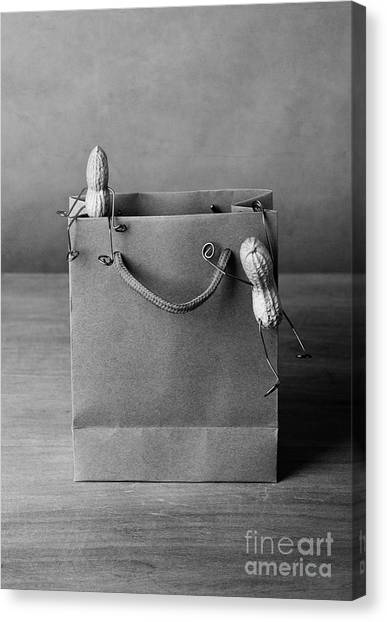 Shopping Bags Canvas Print - Going Shopping 01 by Nailia Schwarz