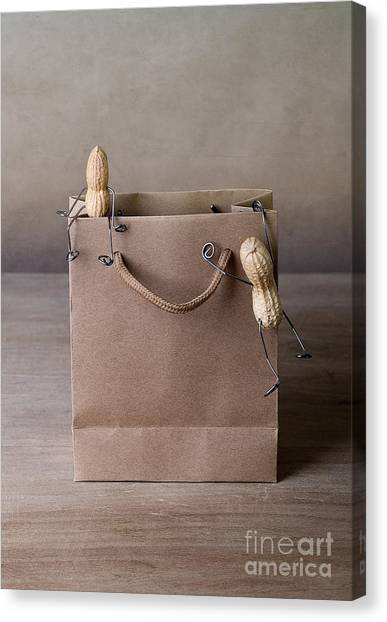 Shopping Bags Canvas Print - Going Shopping 02 by Nailia Schwarz